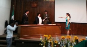 Taking the Oath after being unanimously approved