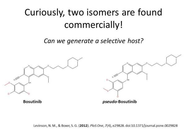 A comercial error has released two isomers to the market, only one of them actually works. CAN WE GENERATE A RECOGNITION AGENT??
