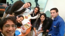 Hanging out at my office (LR, Guillermo, Gustavo, Me, Maru, Marycarmen, Durbis)